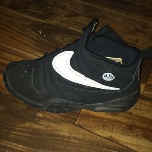 A pair of nike shoes.